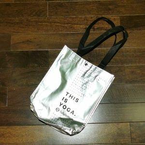 Small Silver Lululemon Reusable Bag